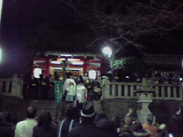 元町神社の豆撒き