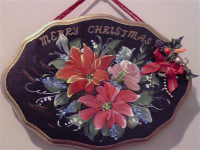クリスマスドアプレート