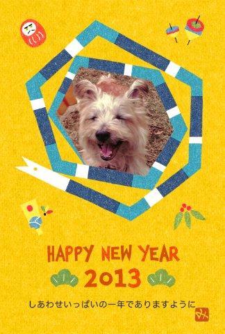 1月6日振り返る犬
